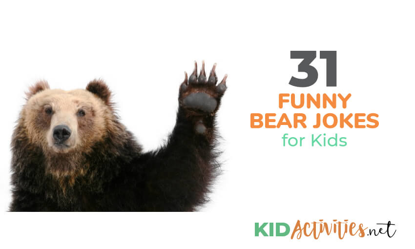A collection of funny bear jokes for kids.
