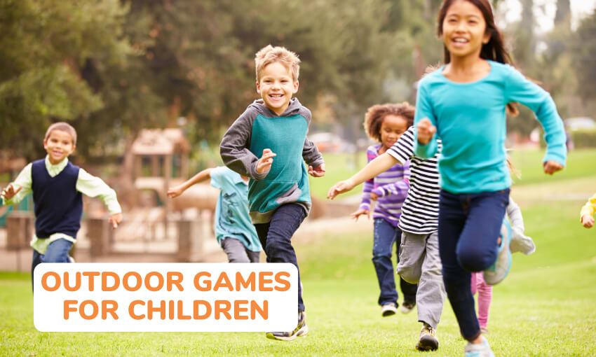 A collection of fun outdoor games for children.