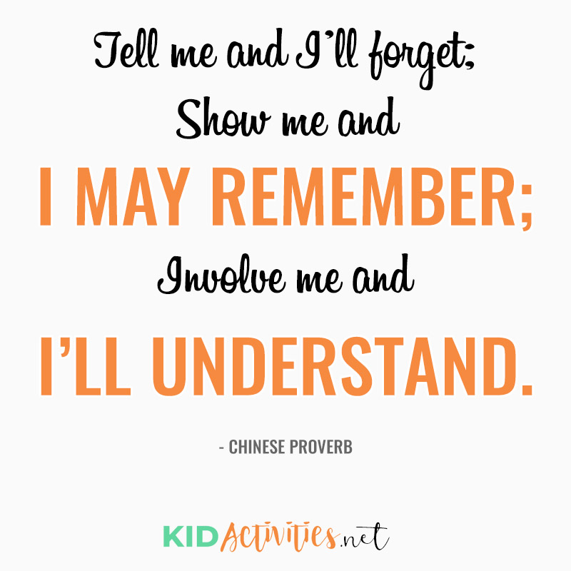 Inspirational Quotes for Teachers (Tell me and I'll forget; Show me and I may remember; Involve me and I'll understand.- Chinese Proverb)