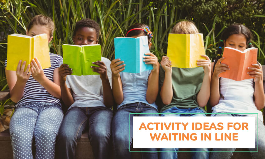 A collection of activity ideas for waiting in line.