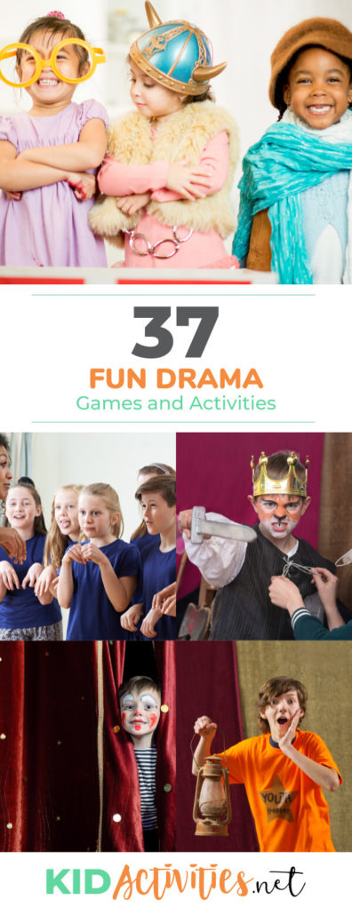 A collection of drama games and activities for kids. These activity ideas are great for drama club and to use while rehearsing for school plays and warming up.