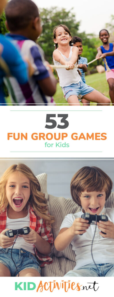A collection of fun group games for kids. Great for the classroom, recess, or PE class.