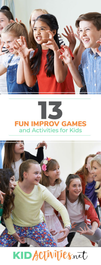 A collection of fun improv games and activities for kids. These are great for any drama program. Plenty of fun and entertainment are sure to ensue.