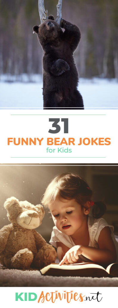 A collection of funny bear jokes for kids. These clean jokes are great for the classroom.