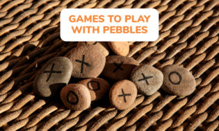 A collection of games to play with pebbles. Great for a rock themed day in the classroom or part of teaching geology to young kids.