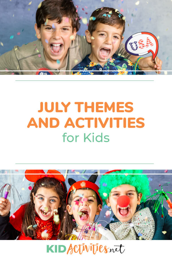 A collection of July themes and activities for kids. Great for developing lesson plans or activity calendar for the month of July.