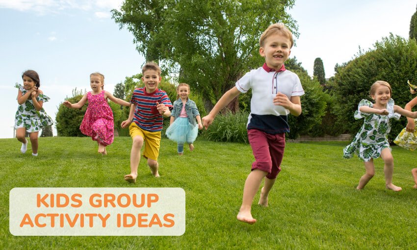 A collection of kids group activity ideas.