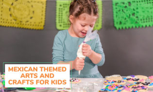 A collection of Mexican themed arts and crafts ideas for kids.