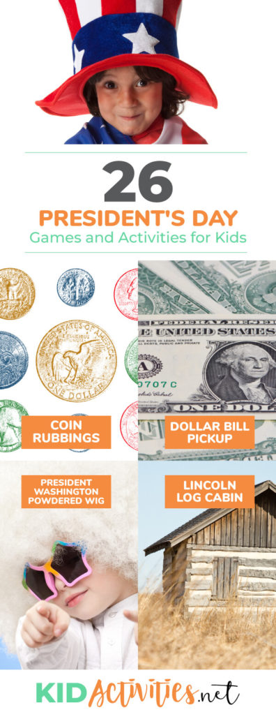 A collection of President's Day games and activities for kids.