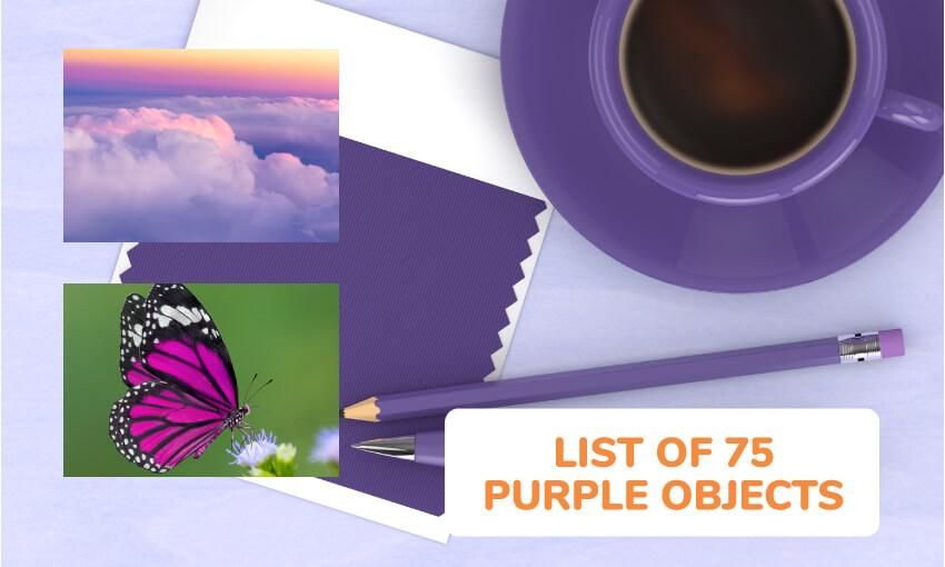 A list of 75 purple objects.