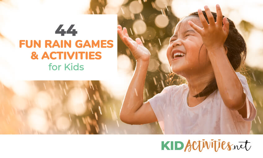 A collection of fun rain games and activities for kids.