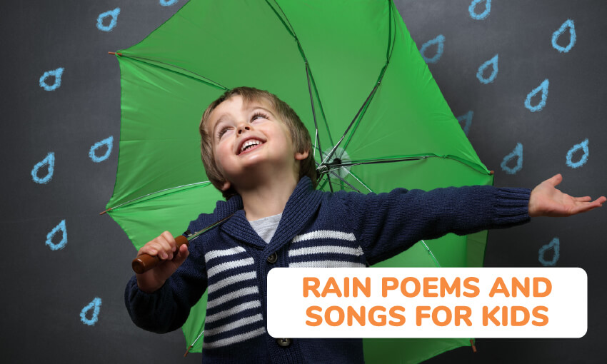 A collection of rain poems and songs for kids.