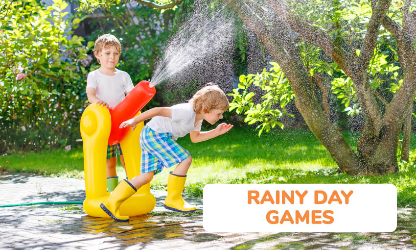 A collection of fun rainy day games for kids.