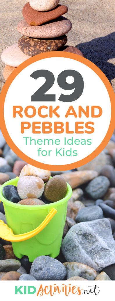 A collection of rock and pebbles theme ideas for kids. Find a wide assortment of pebble activities including arts & crafts, pebble games, rock themed party ideas, and stone soup ideas. Great for teaching geology or a themed day in the classroom.