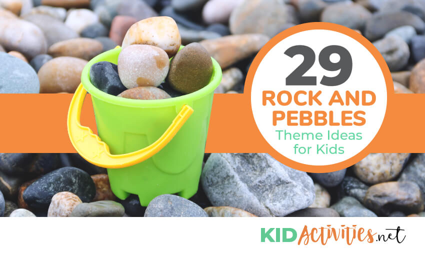 A collection of rock and pebbles theme ideas for kids. Great for a classroom theme or for a geology lesson.