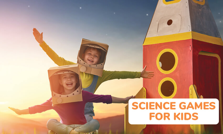 A collection of science themed games for kids.