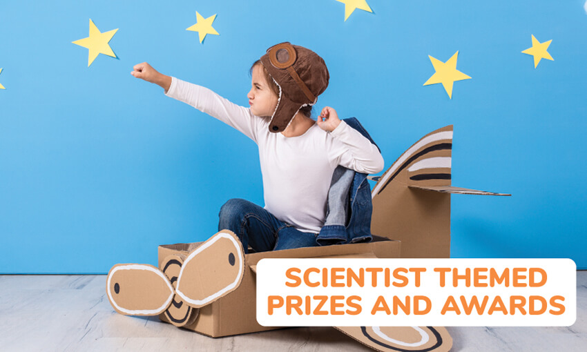 A collection of scientist themed prizes and awards.
