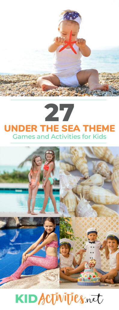 A collection of under the sea themed games and activities for kids. You'll find under sea arts and crafts ideas, party ideas such as snacks and prizes, and ocean themed games.