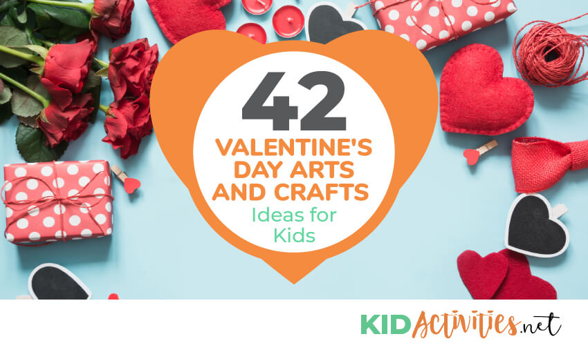A collection of Valentine's Day arts and crafts ideas for kids. Great classroom activities for Valentine's Day.