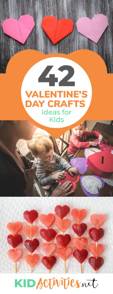 A collection of Valentine's Day arts and crafts ideas for kids. These are great activity ideas for Valentine's Day parties.