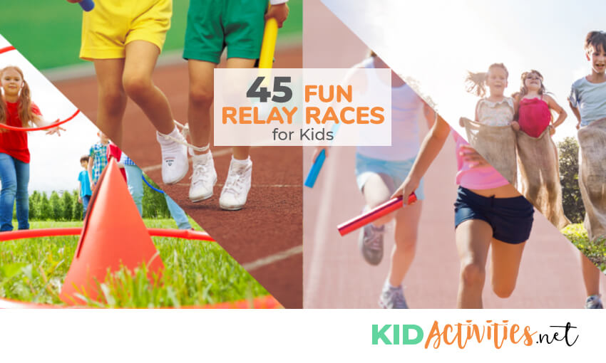 A collection of relay race ideas for kids.