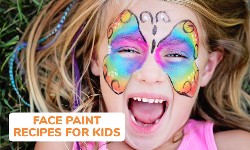 A collection of face paint recipes for kids.