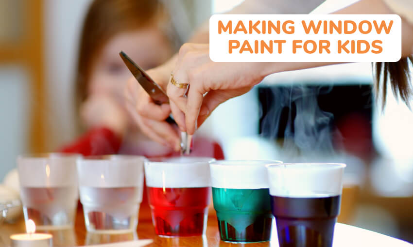 A collection of window paint recipes for kids.