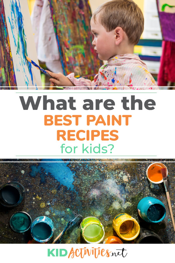 What's the best homemade paint recipe for kids? We provide 45 recipes using common household pantry items.