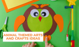 A collection of animal themed arts and crafts for kids.