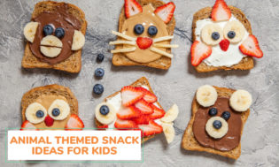 A collection of animal themed snack ideas for kids.