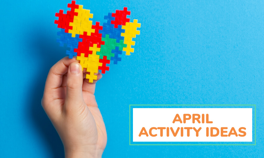 A collection of April activity ideas for kids.