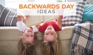 Backwards day ideas are a great school theme idea.