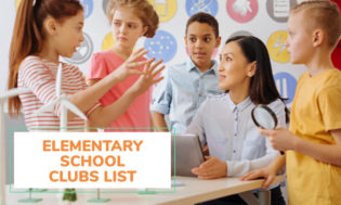 A list of elementary school club ideas and themes.