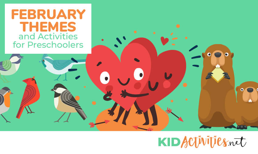 A collection of February themes and activities for kids. Great activity ideas for the classroom.