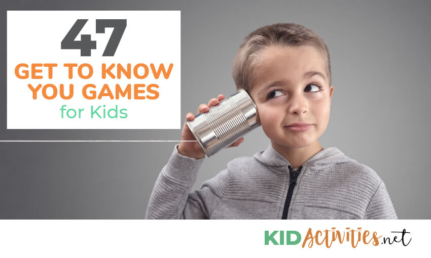 A collection of 47 get to know you games and activities for kids.
