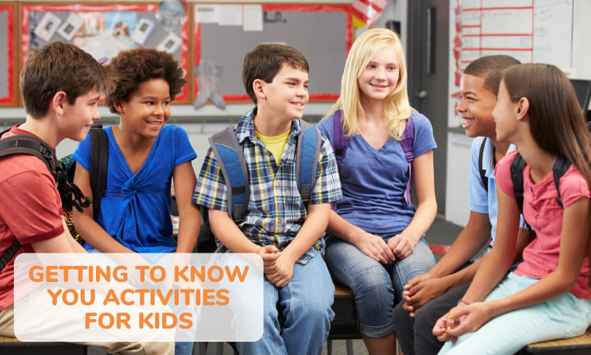 A collection of getting to know you activities for kids.