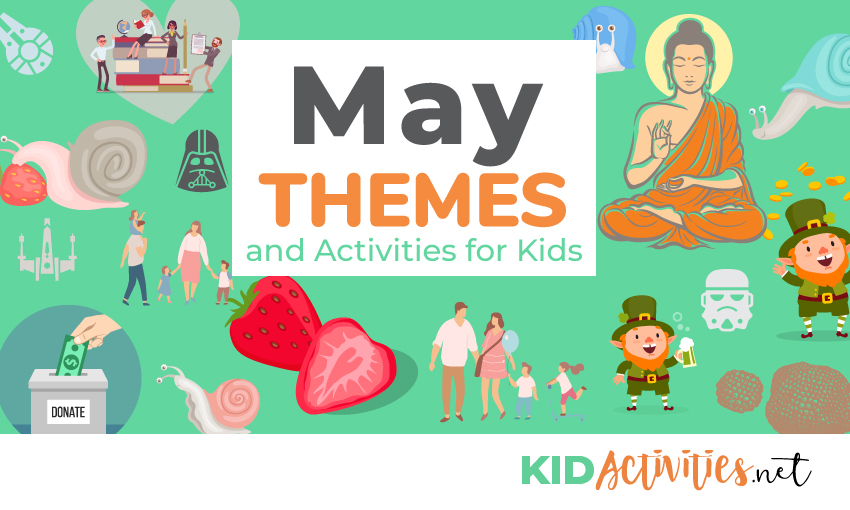 A collection of activity ideas for the month of May. Great for building lesson plans around.