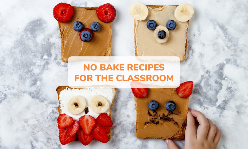 A collection of no bake recipes for the classroom.