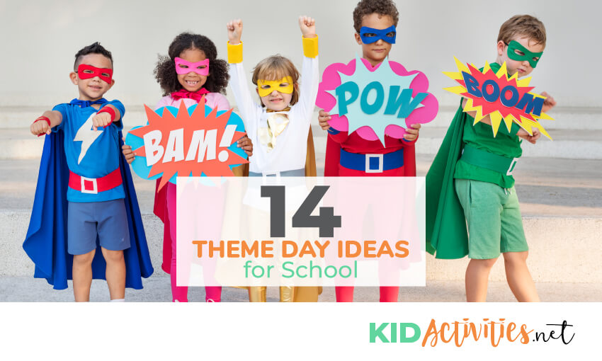 A collection of theme day ideas for school. Theme ideas like wacky Wednesday and backwards day.