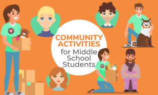 A collection of community activities for middle school students.