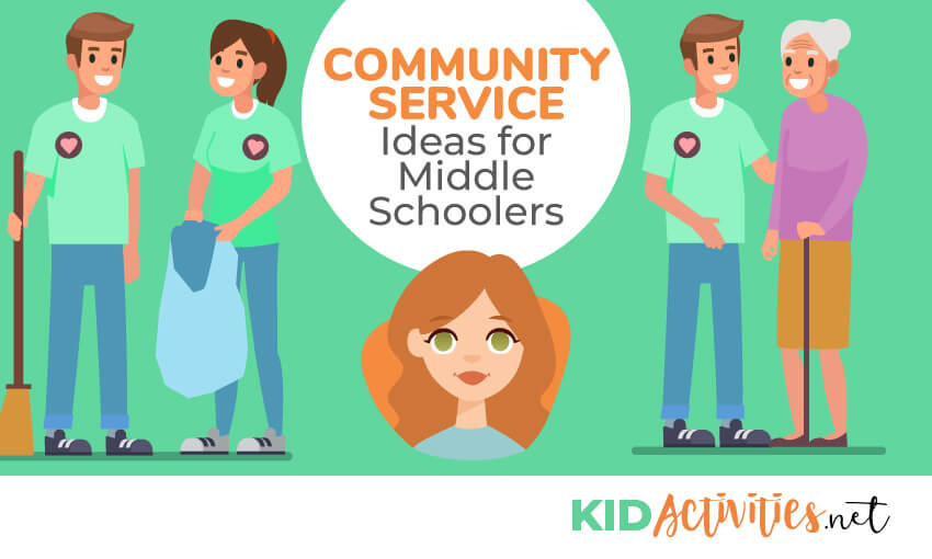 A collection of community service ideas for middle schoolers.