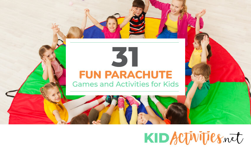 31 Fun Parachute Games And Activities For Kids Kid Activities