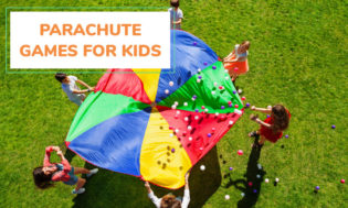 A collection of parachute games for kids. Great for gym class.