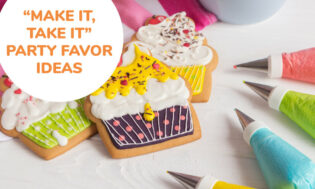 A collection of make it take it party favor ideas for kids.