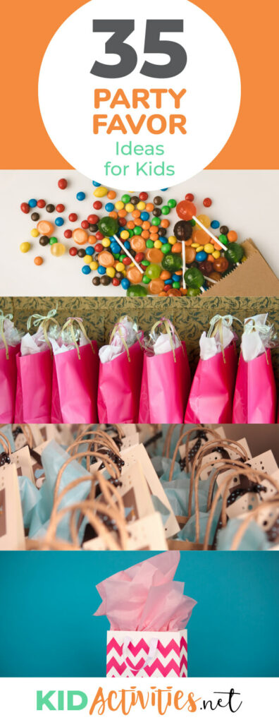 A collection of party favor ideas for kids. These are great for classroom parties, birthday parties, or holiday parties. Kids will love these great party favors.