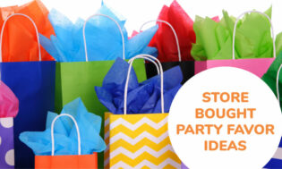 A collection of store bough party favor ideas for kids.