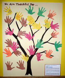 handprint thankful tree