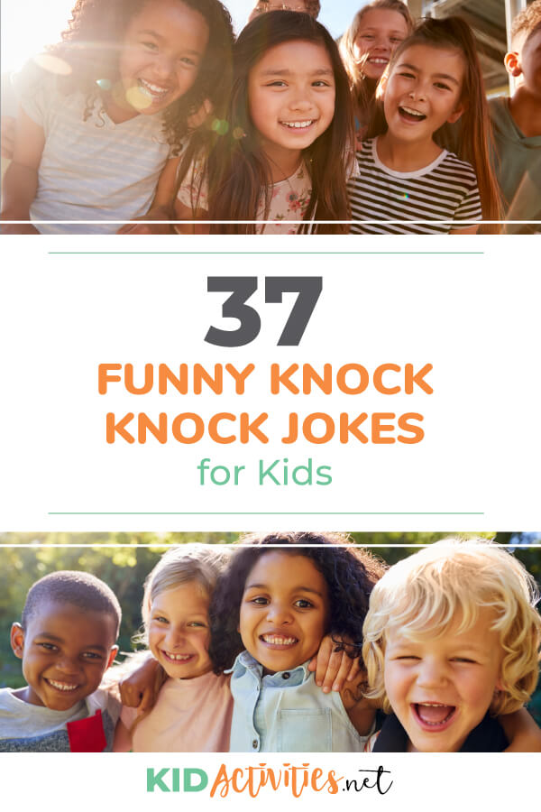 A collection of 37 funny knock knock jokes for kids. These jokes are sure to deliver the laughs. These jokes are great for school, home, and anywhere in-between.