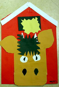 cow collage for kids
