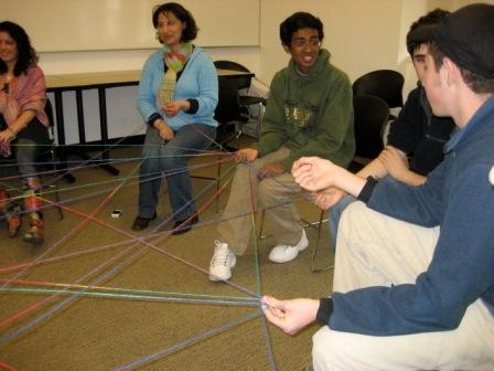 Spiderweb of friendship get to know you game.